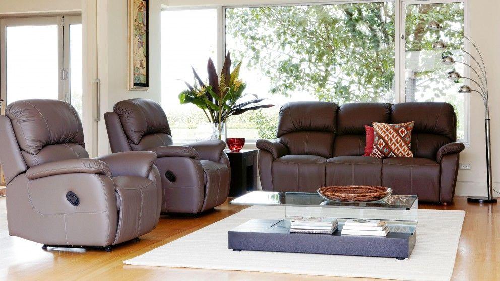 Best Camden 3 Piece Leather Recliner Lounge Suite Recliner 400 x 300