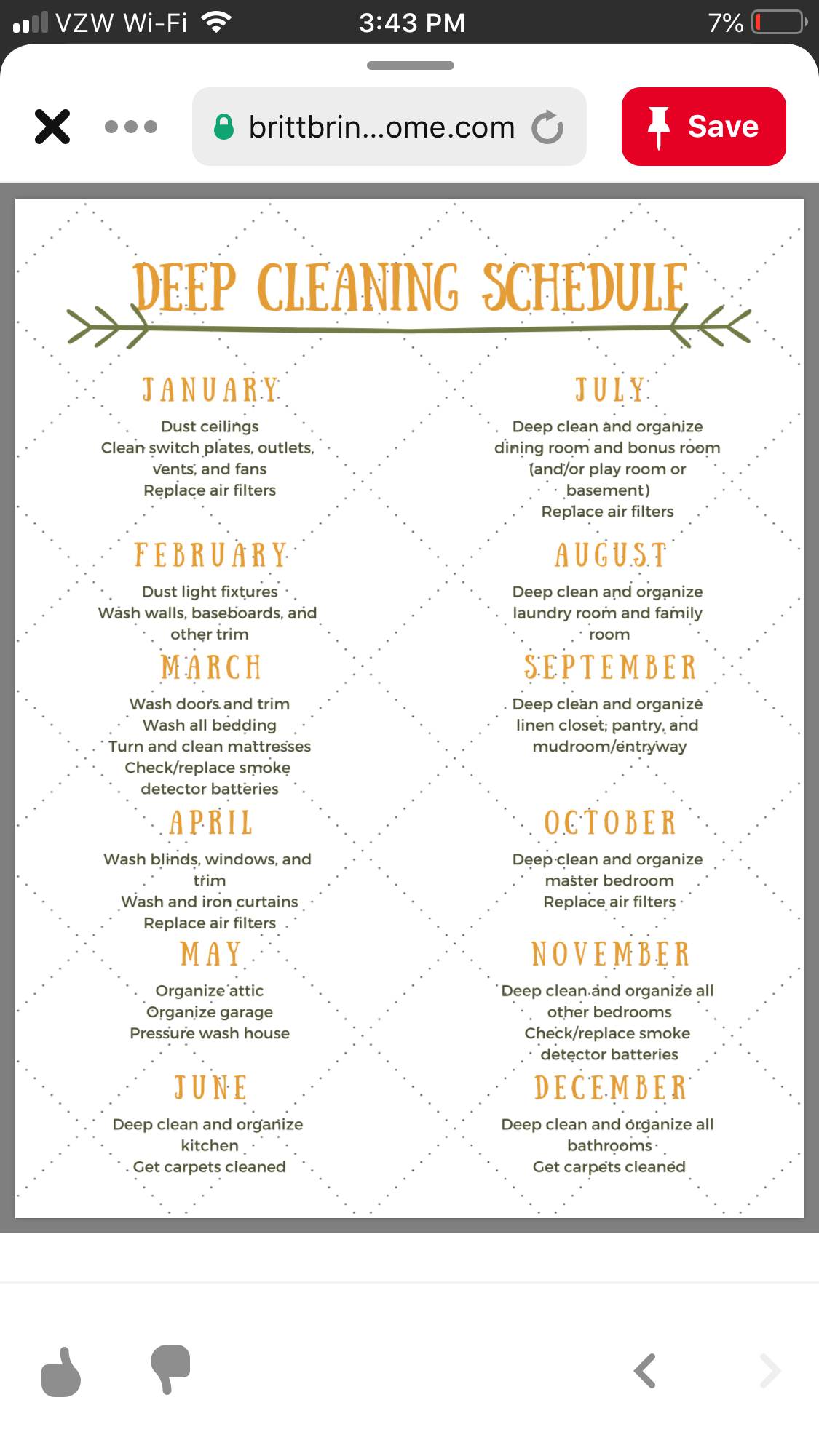 Pin by Carole Jones on Cleaning Deep cleaning schedule