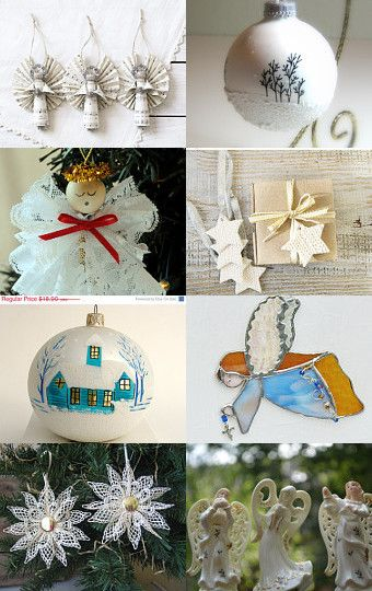 Angels and Ornaments by Wendy Rippeon on Etsy--Pinned with TreasuryPin.com