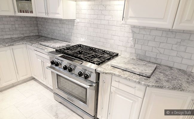 Gray Marble Countertops Carrara Marble Backsplash Images