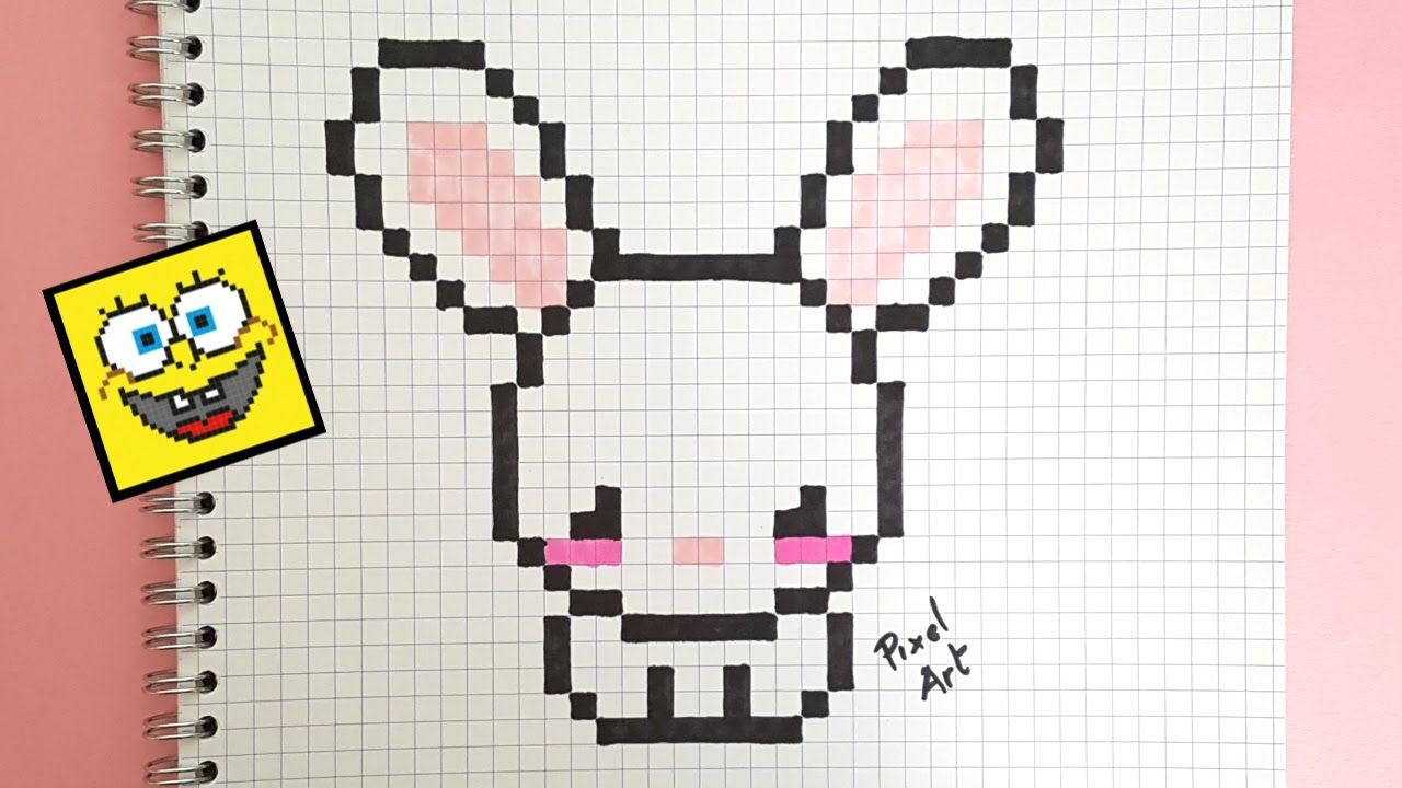 épinglé Par Ravza Sur çizim Pixel Art Lapin Lapin Kawaii