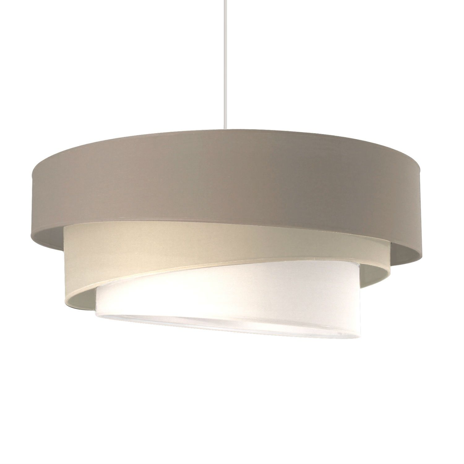 Suspension Taupe/Sable/Blanc Ø58cm - IONOS | Cylindre, Superpose ...