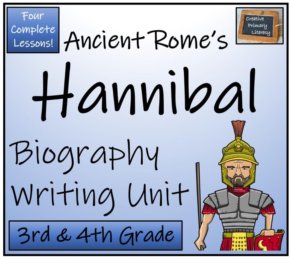 Hannibal 3rd 4th Grade Biography Writing Activity Writing Activities Writing Units Reading Comprehension Activities [ 888 x 1000 Pixel ]