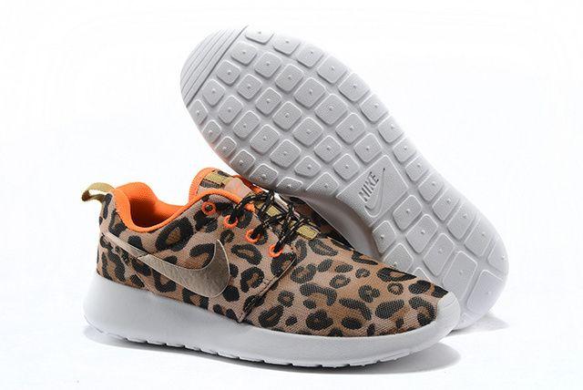best cheap b59d0 b160d Custom Leopard Nike Roshe Run Gauze TGY Brown Yellow Orange