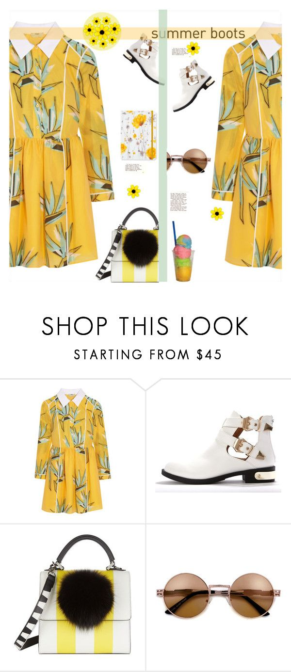 """Summer Boots"" by soranamikaze ❤ liked on Polyvore featuring Fendi, Les Petits Joueurs, polyvorecontest, polyvorefashion and polyvoreset"