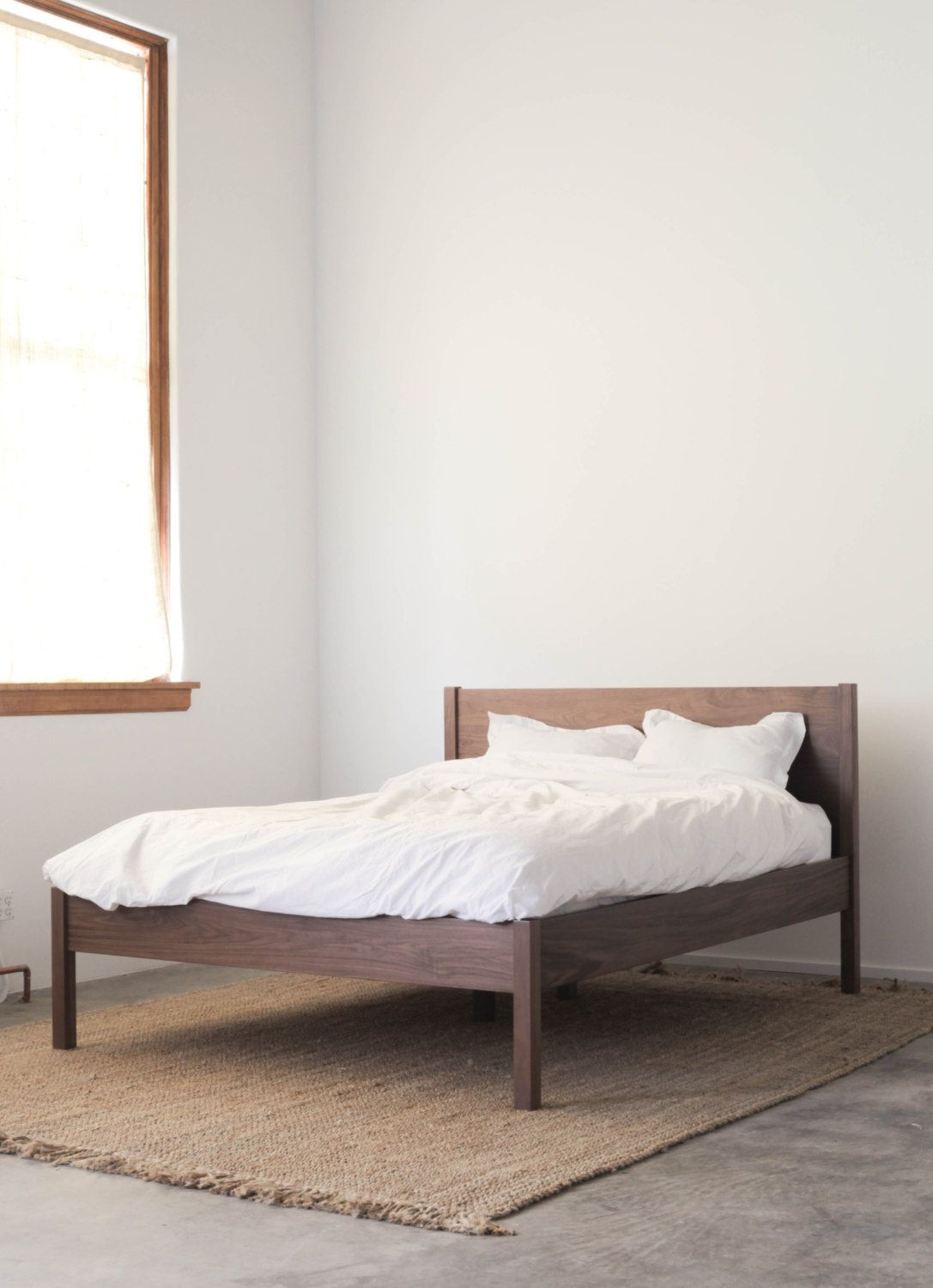 Featured Item Solid Walnut Queen Bed Frame And Headboard