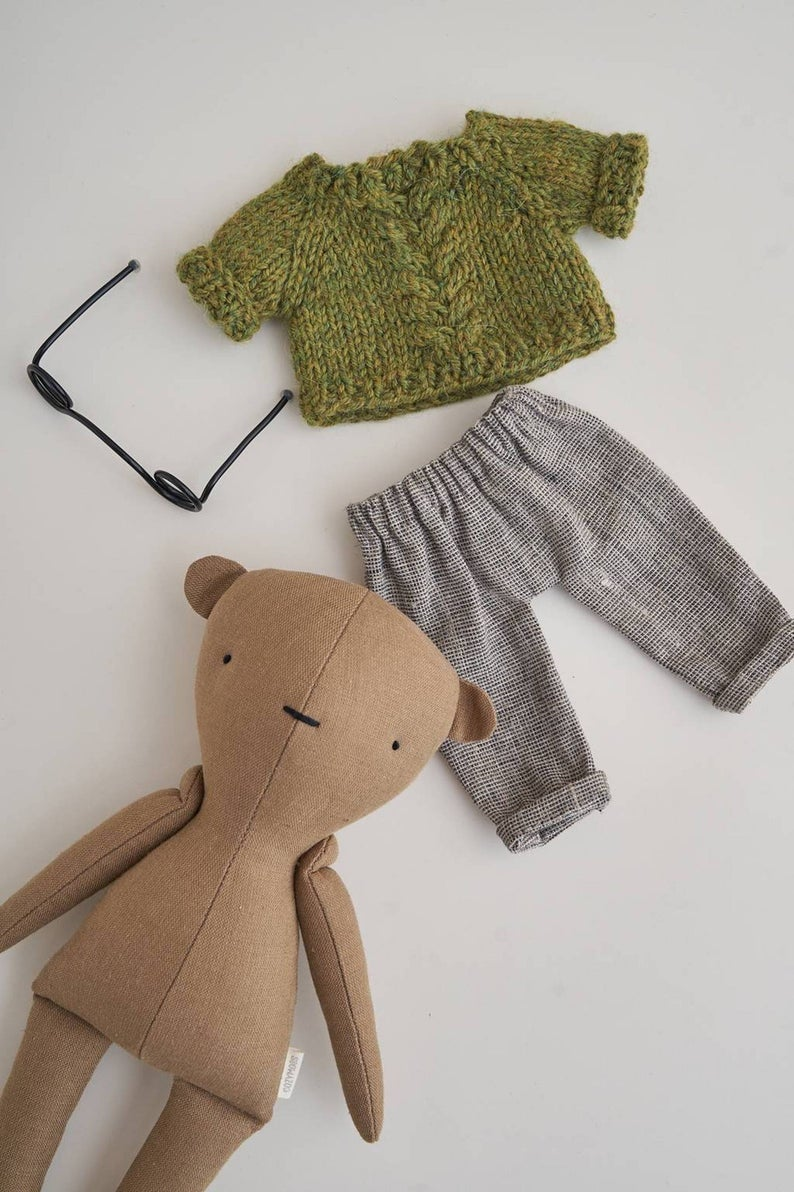 Predownload: Bear With Clothes Stuffed Animal Doll Linen Plush Bear Etsy In 2020 Organic Baby Toys Baby Toys Animal Dolls [ 1192 x 794 Pixel ]