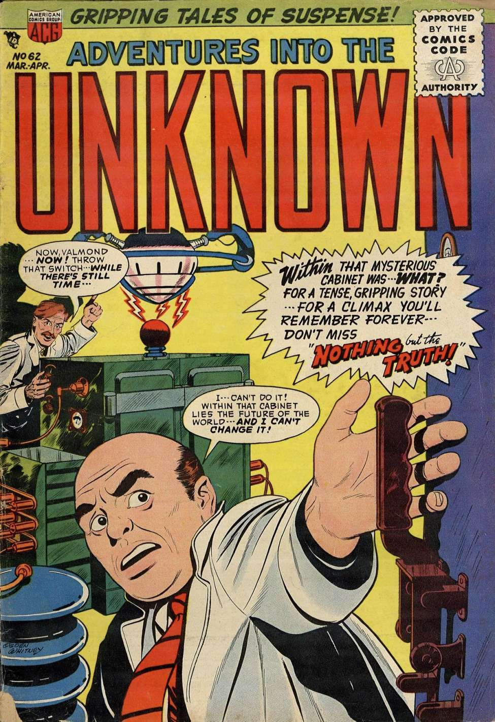Adventures into the unknown 62 comics tales of