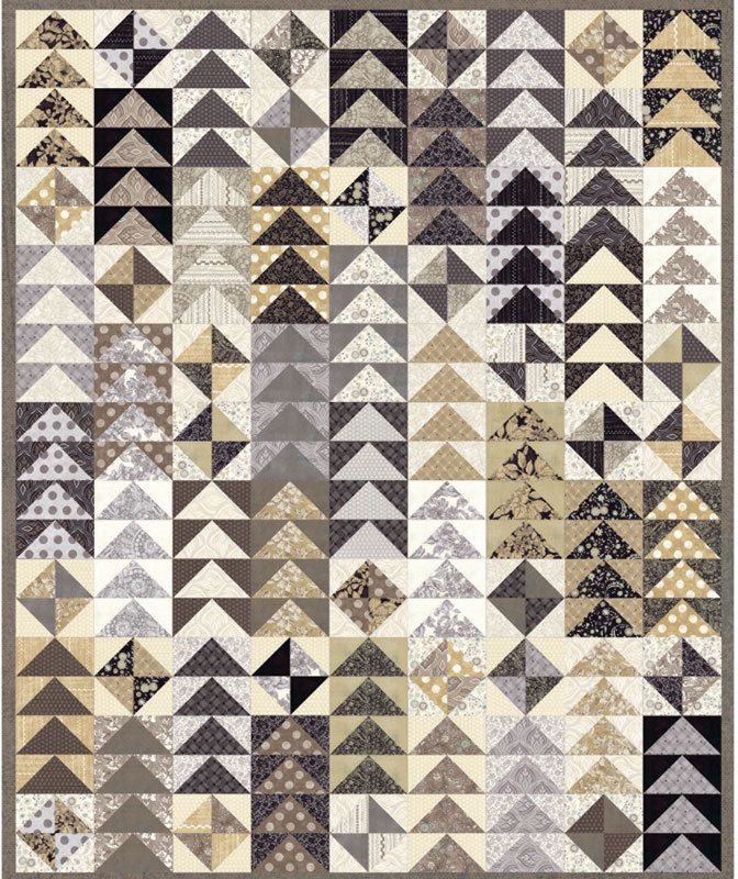 NEW Moda Basic Grey Maven Black Tan Cream Complete Fabric Quilt ... : complete quilt kits - Adamdwight.com