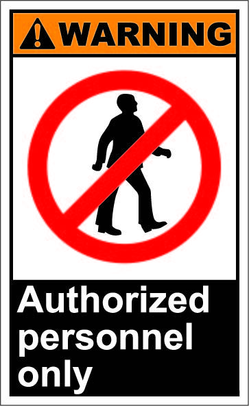 Authorized Personnel Only 1 64 Signs Instant Art Trucks Only Signs