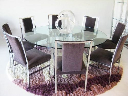 Large Round Glass Dining Table