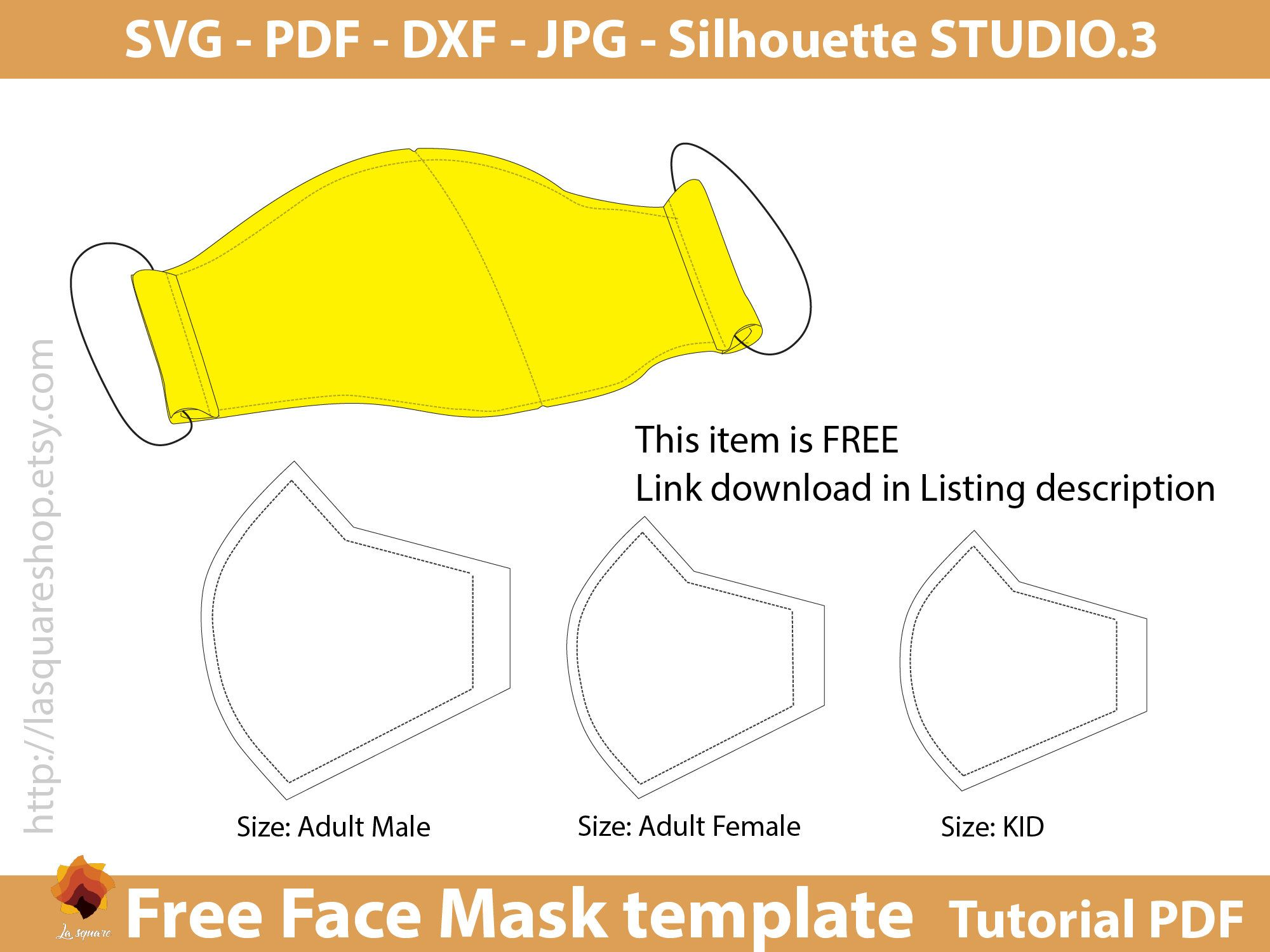 Photo of Free Face Mask templates, SVG face mask, face mask printable instant download, face mask sewing three sizes