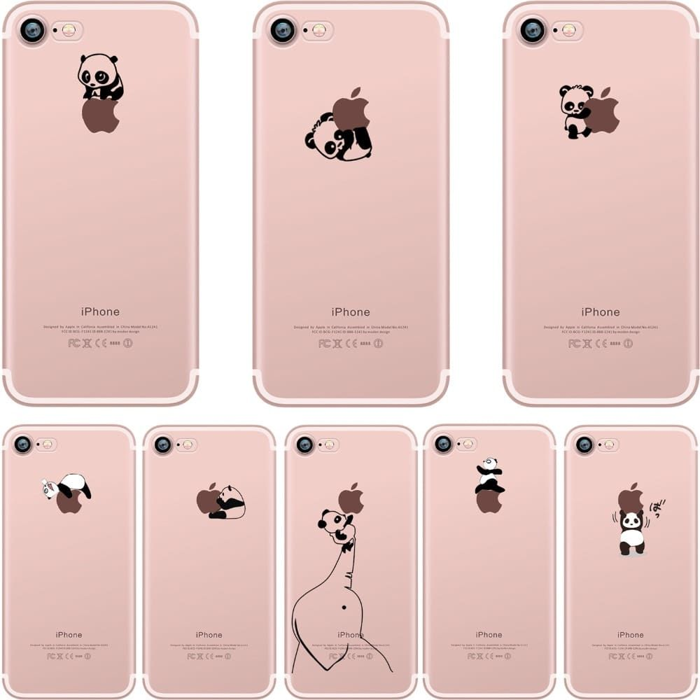 Cute Panda Soft Silicone Case for iPhone Price: 39.99 & FREE ...