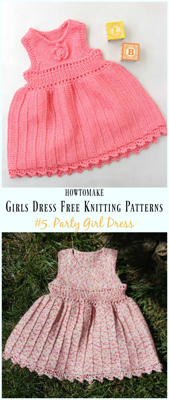 Little Girls Dress Free Knitting Patterns | Knitting patterns ...