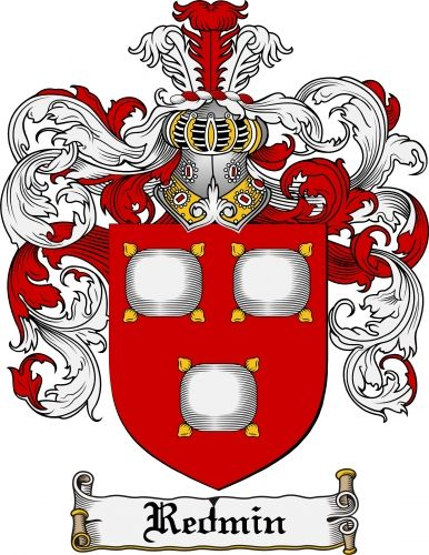 Redmin Coat of Arms Redmin Family Crest Instant Download