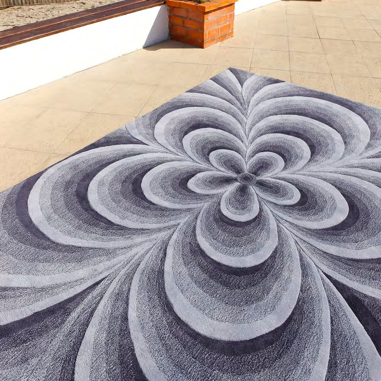 carving alfombra moderna indy alfombra moderna indy carving fabricada de manera artesanal en material acrlico - Alfombra Moderna