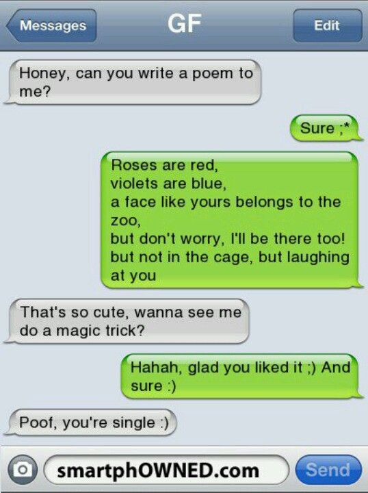 Messed up text messages