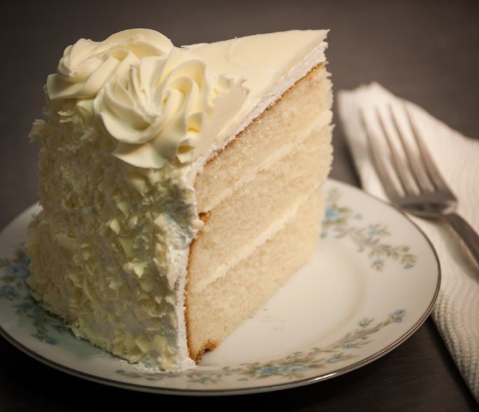 White Wedding cake with cheesecake filling, European buttercream ...