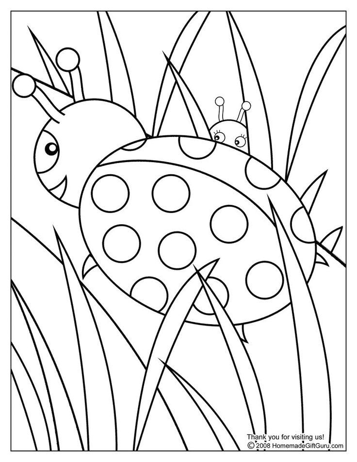 This ladybug coloring page is super cute. It might take a moment to ...