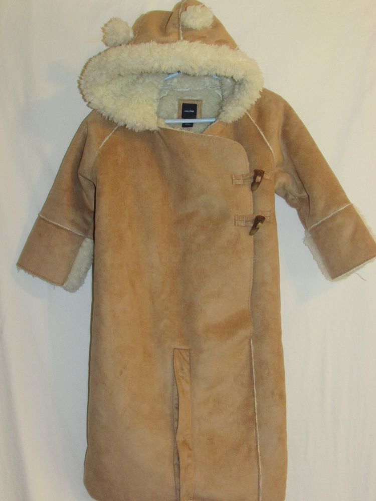 99597696d BABY GAP 12-18m NWT Brown Tan Faux Suede Sherpa Snowsuit Bundler Convertible  #babyGap #Snowsuit #Everyday