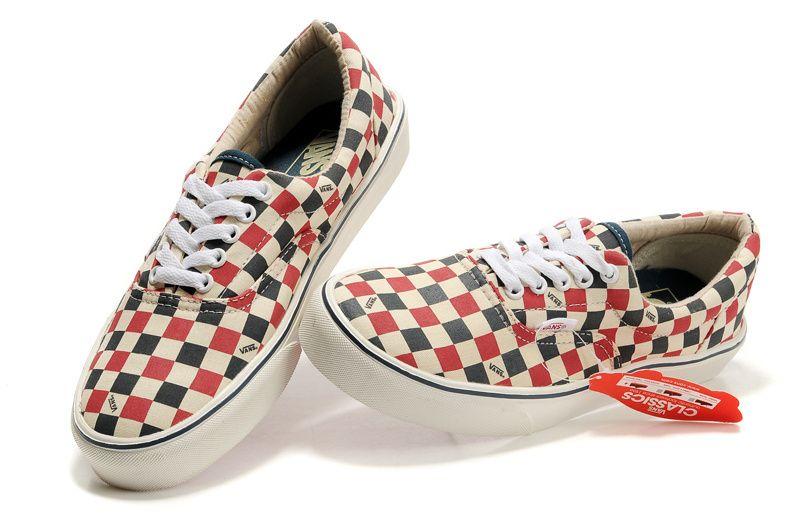 I m selling Vans Skate Classic Slip-On Grid Beige Dark Blue Red - £45.00   onselz cd969d125