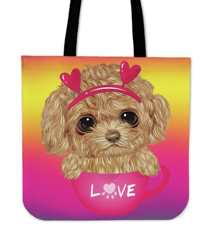 Cute Sweet Little Puppy Cloth Tote Bag Cute Sweet Little Puppy Cloth Tote Bag  This is iT Original
