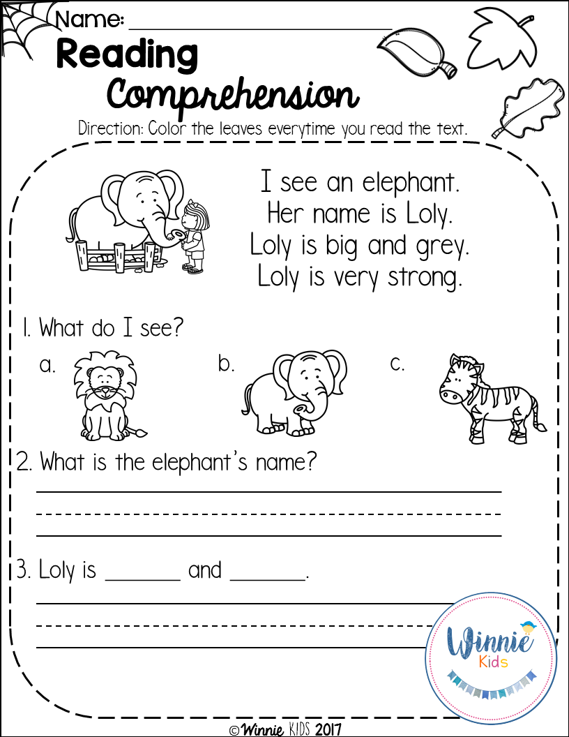 Fall Reading Comprehension Is A Set Of 20 Fall Themed Reading Passages For Emergent And Early Readers Pendidikan Bahasa Inggris Bahasa [ 1056 x 816 Pixel ]