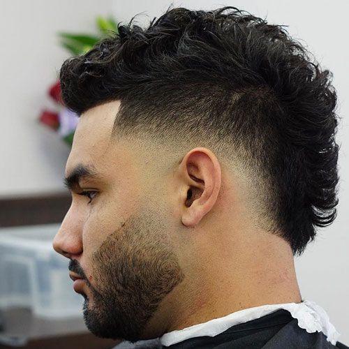 Straight Hair Burst Fade Haircut