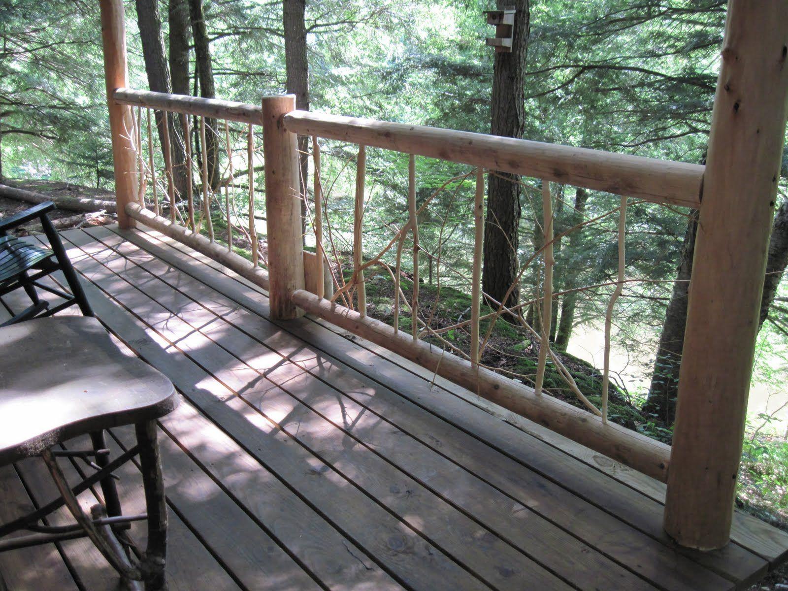 Rustic decks rustic porch railing rustic deck path for Rustic porches and decks