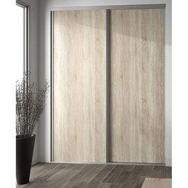 porte de placard coulissante ch ne clair form valla 62 2 x 245 6 cm id es pour la maison. Black Bedroom Furniture Sets. Home Design Ideas