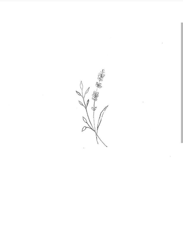 Minimalist Line Flower Tattoo: Tiny Flower Tattoos, Dainty Tattoos