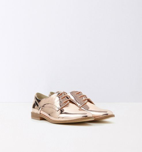 Derbys In Lame Optik Gold Promod Schuhe Pinterest Gold