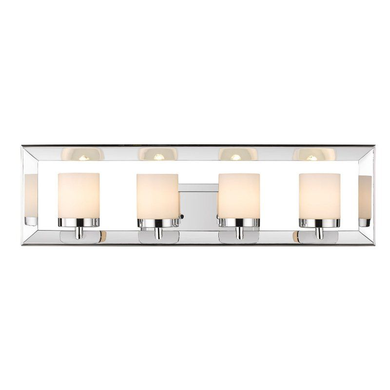 Golden Lighting Smyth Ii 2074 Ba4 Ch Bathroom Vanity Light