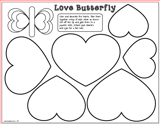 This Valentine's Day craft page is a fun and easy project for pre ...