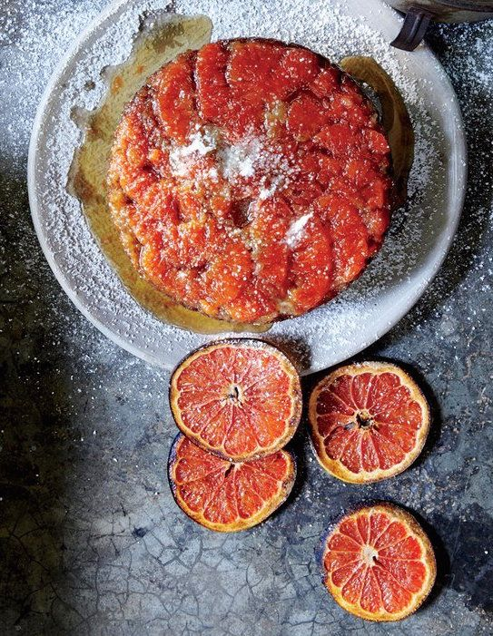 A cake of grapefruit, mezcal, and burnt honey. | Tulum, Mexico, Photographed by Gentl & Hyers