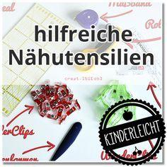 KINDERleicht und schön | Nähen mit Cherrygrön: Cherrygrön & Friends 1 | Nähutensilien
