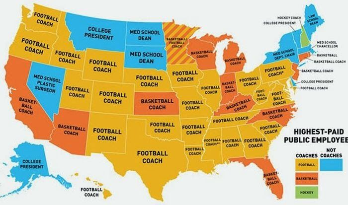 in addition to showing the cultural priorities of america this map bespeaks the coming bubble burst of college education