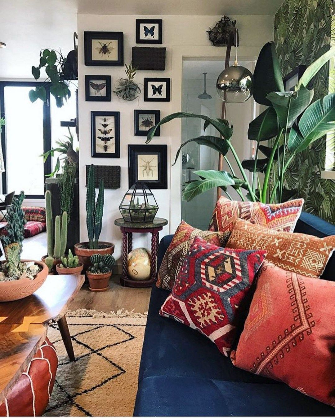 rustic and cozy boho cabin makeover on a budget 14 home decor home interior on boho chic decor living room bohemian kitchen id=42601