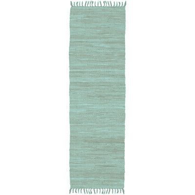 "Artistic Weavers Easy Home Teal Solid Delaney Area Rug Rug Size: Runner 1'10"" x 6'"