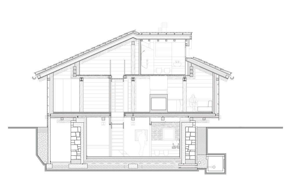 Alpine Barn / EXiT architetti associati Plans maison, Plans et Maisons