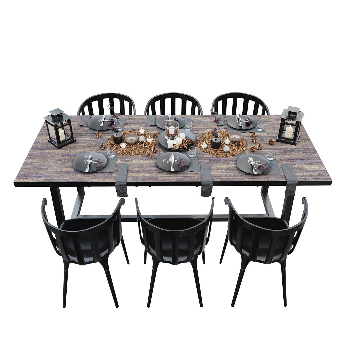 Download Free 3d Model Ikea Black Set From Vasyl Kuchabskyy