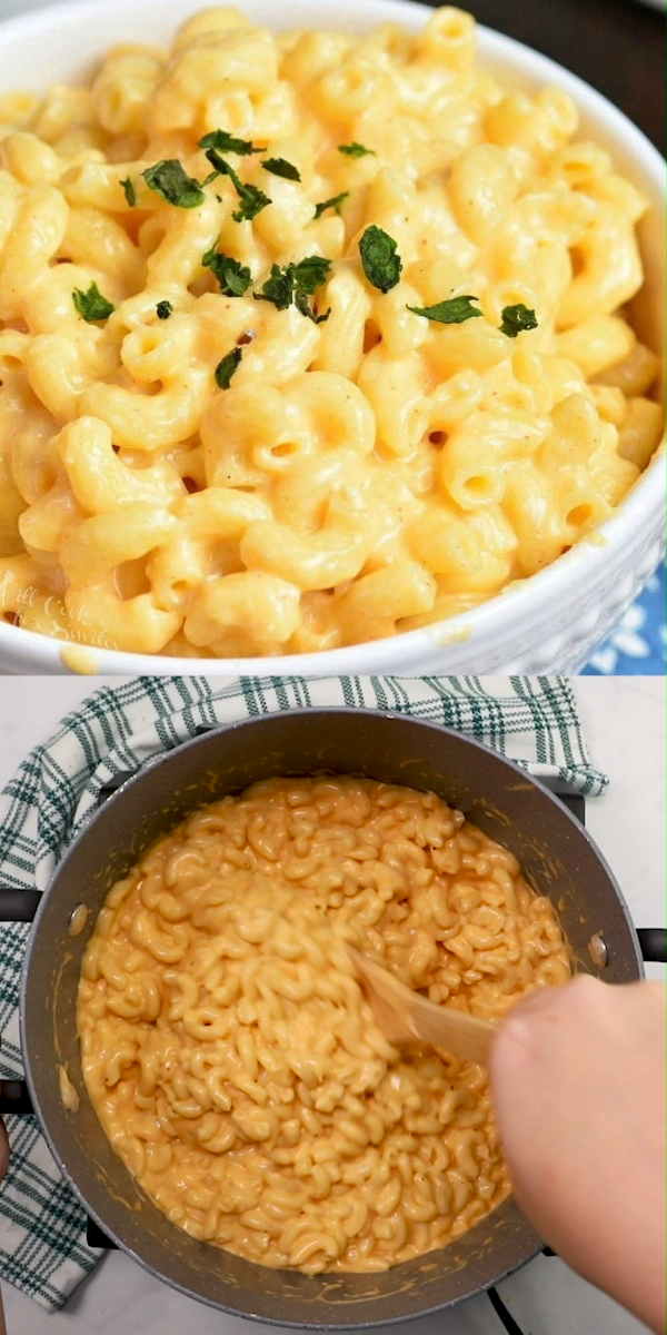 Easy Homemade Mac and Cheese recipe ready in less than 30 minutes.