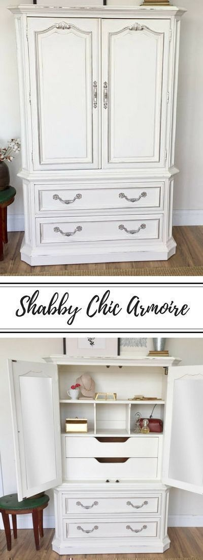 White Armoire   Shabby Chic #furniture   Bedroom Closet   Vintage Wardrobe    Nursery Furniture