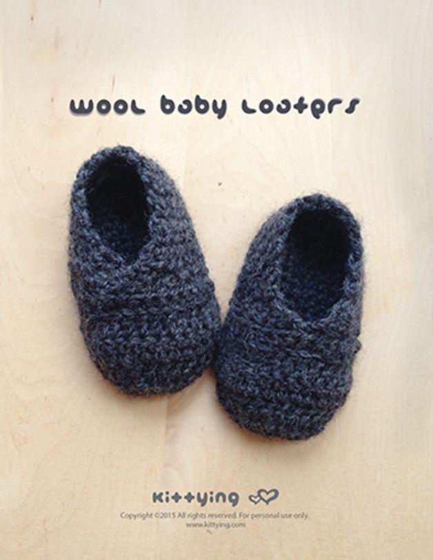 Wolle Baby-Loafers Häkelanleitung | Babies