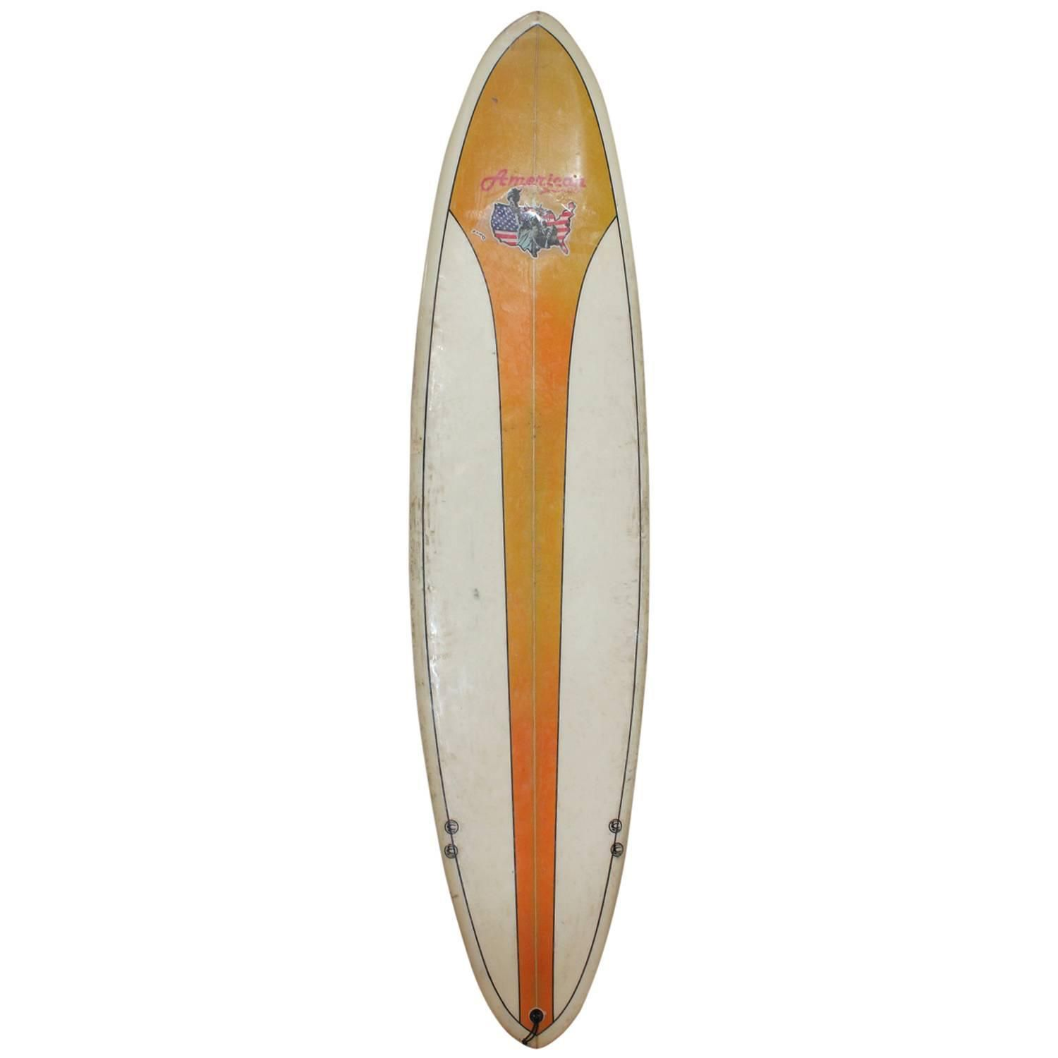 Vintage Surfboard by American Board Company | See more antique and modern Sports at https://www.1stdibs.com/furniture/more-furniture-collectibles/sports