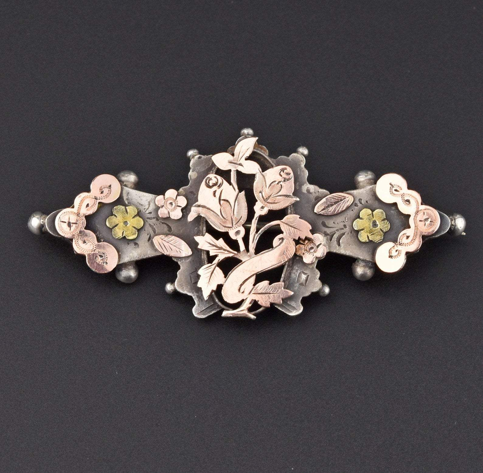 Photo of Edwardian Rose Gold Silver Sweetheart Brooch