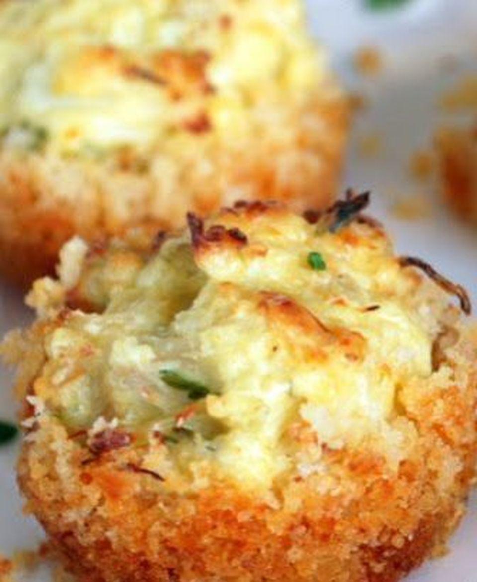 Parmesan Crusted Crab Cake Bites (Free Recipe below