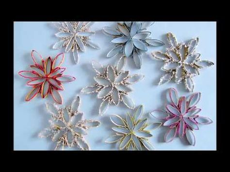 DIY: Schneeflocken aus Küchenrolle ( schnell, einfach, leicht ...