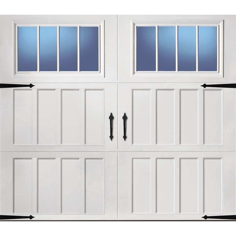 Pella Carriage House 108 In X 84 In Insulated White Single Garage Door With Windows Lowes Com White Garage Doors Single Garage Door Garage Door Types