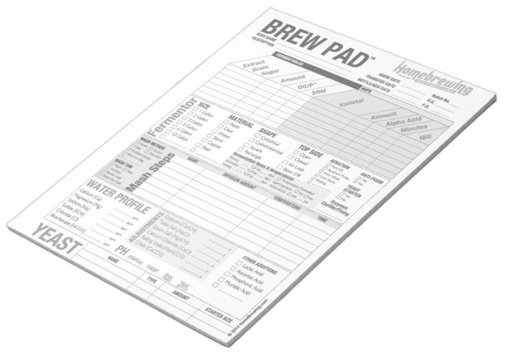 Brew Pad Data Sheets Free Download Home Brewing Em